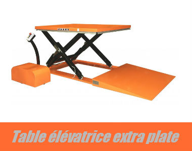 Table de levage extra plate avec rampe